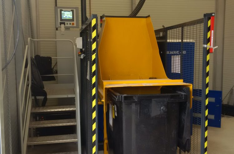 1000 liters tray unloader
