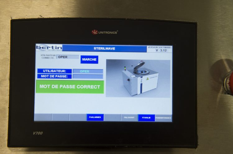 Sterilwave 100 production monitoring software